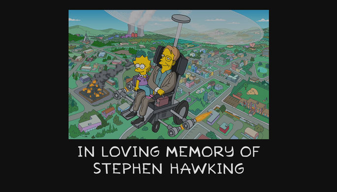 «Симпсоны» почтили память Стивена Хокинга