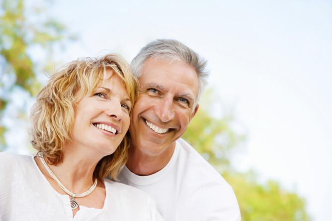 Portrait Of A Happy Romantic Couple Outdoors. Стоковая фотография 136065188 : Shutterstock