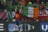 Радующийся Давид Сильва и ирландский флаг