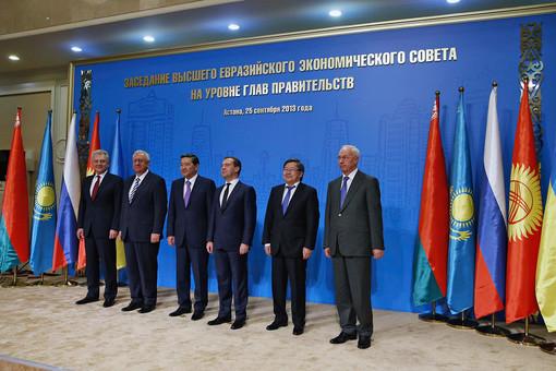 Участники Высшего Евразийского экономического совета на уровне глав правительств