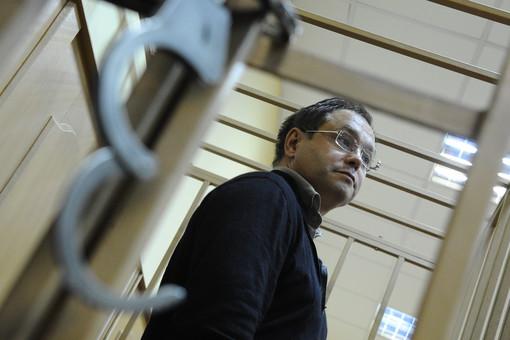 Экс-сенатор, топ-менеджер Моего банка Глеб Фетисов во время рассмотрения ходатайства следствия о мере пресечения в Басманном суде