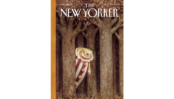 New Yorker обнародовал наобложке Трампа вобразе «опасного клоуна»