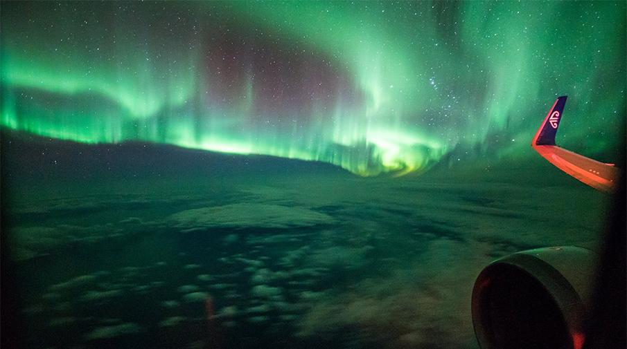 Состоялся 1-ый вмире пассажирский рейс вэпицентр северного сияния