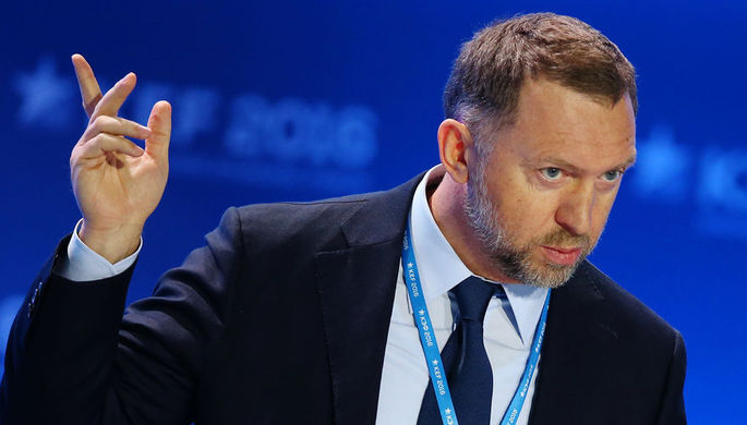 Олег Дерипаска во время экономического форума в Красноярске 2016 год