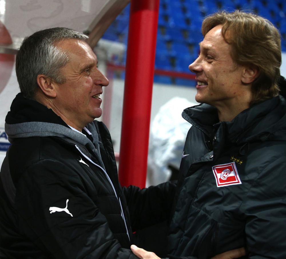 Леонид Кучук и Валерий Карпин