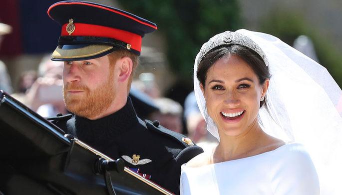 Размещены первые официальные свадебные фото принца Гарри иМеган Маркл