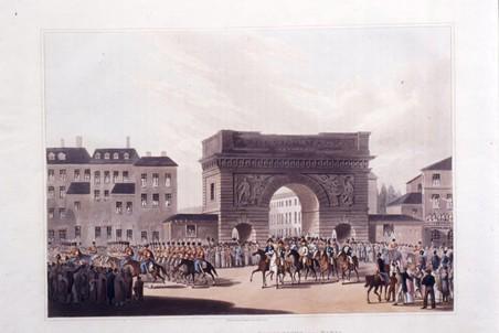 Вступление в Париж союзных монархов