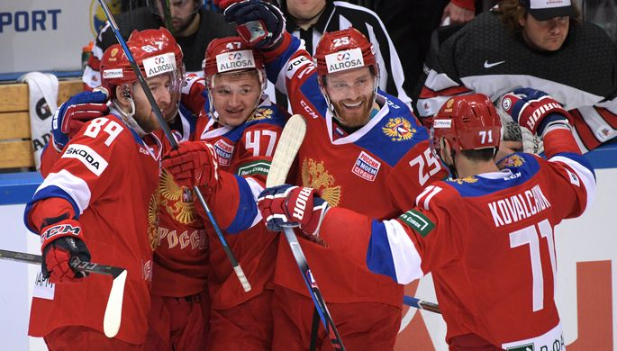 Русские хоккеисты обыграли канадцев вматче Кубка Первого канала