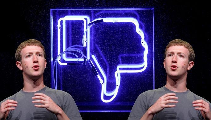 Основатель социальная сеть Facebook Марк Цукерберг засутки потерял 6 млрд долларов