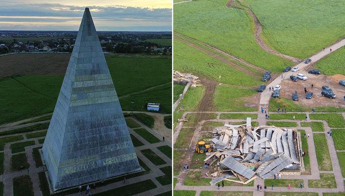 Восстановлена пирамида Александра Голода наНоворижском шоссе