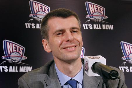 Михаил Прохоров посетил стройку баскетбольного стадиона в Бруклине