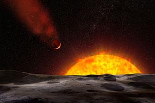 Хаббл обнаружил планету с хвостом, как у кометы