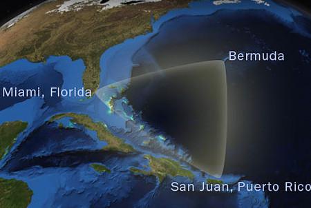 Границы Бермудского треугольника: Куба находится южнее него