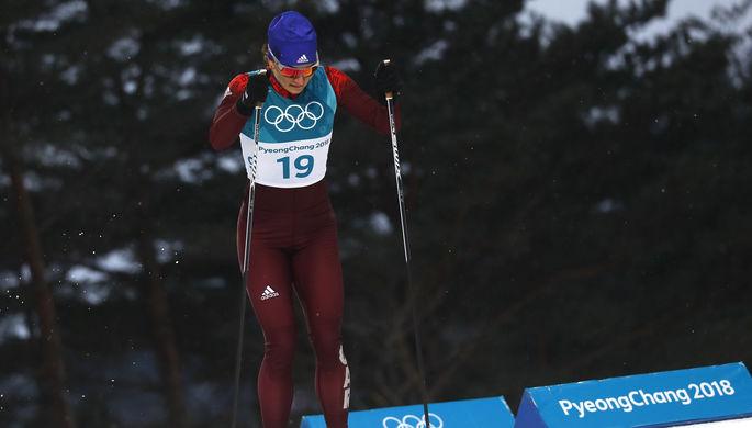 Русские лыжницы Непряева иБелорукова вышли вфинал командного спринта Олимпиады