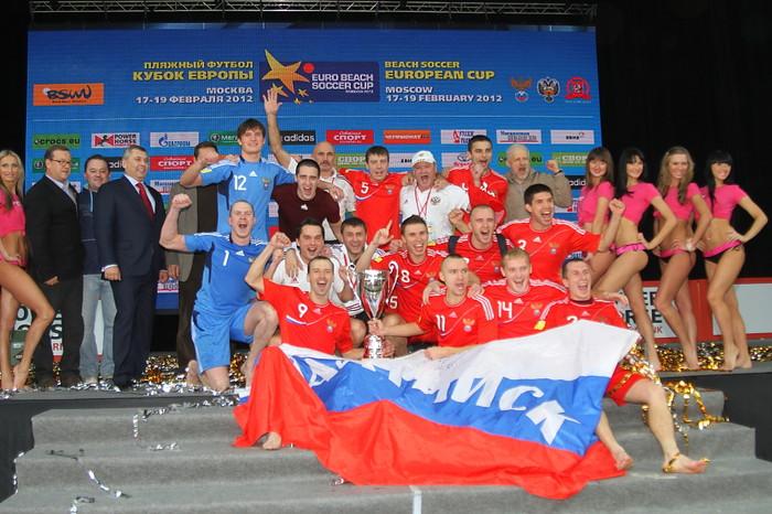 Сборная России выиграла Кубок Европы по пляжному футболу (Видео)