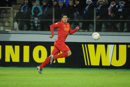 Луис Суарес в матче Лиги Европы с «Зенитом»