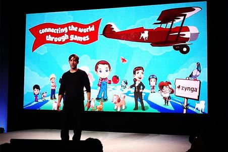 Марк Пинкас на презентации новых продуктов Zynga