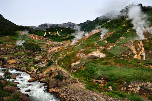 Долина гейзеров в Кроноцком государственном природном биосферном заповеднике на Камчатке