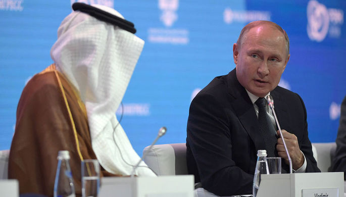 Цена нанефть будет расти, аТрампу нужно посмотреться взеркало— Путин