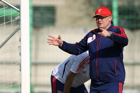Юрий Красножан на одной из тренировок второй сборной России