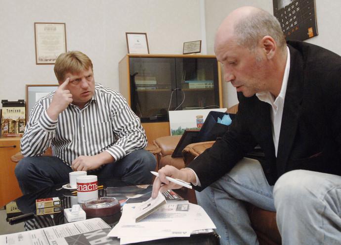 Владислав Бородулин и бывший генеральный директор и шеф-редактор издательского дома «Коммерсантъ» Андрей Васильев