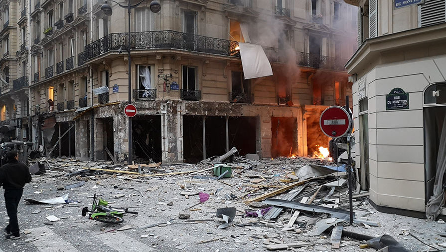 Количество раненых вовремя взрыва встолице франции возросло
