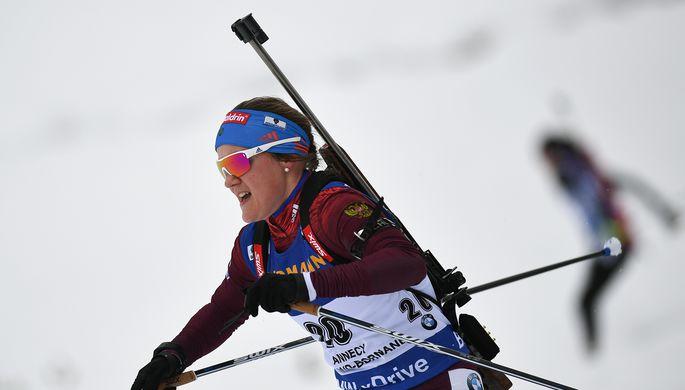 Домрачева выиграла масс-старт вАнтхольце, Юрлова-Перхт— 10-я