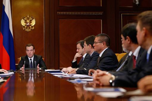 17 декабря. Премьер-министр РФ Дмитрий Медведев на совещании «О проектах инвестиционной программы и финансового плана ОАО «Газпром»