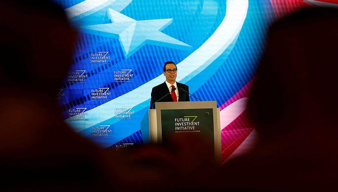 Главе министра финансов США подарили нарождество коробку снавозом