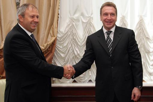 Сергей Румас и Игорь Шувалов на заседании ГВУ совета министров Союзного государства