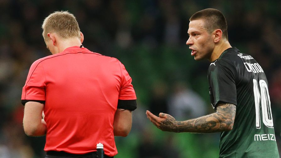Желтая карточка: судья матча «Арсенал— Краснодар» признал свою ошибку