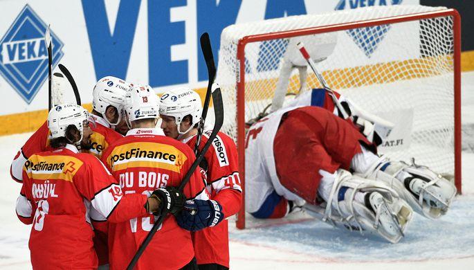 Финны сенсационно проиграли швейцарцам вчетвертьфинале чемпионата мира