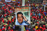 Покойный Чавес активно помогает президентской кампании своего преемника Мадуро, заверяющего избирателей, что команданте «заразили раком темные силы»