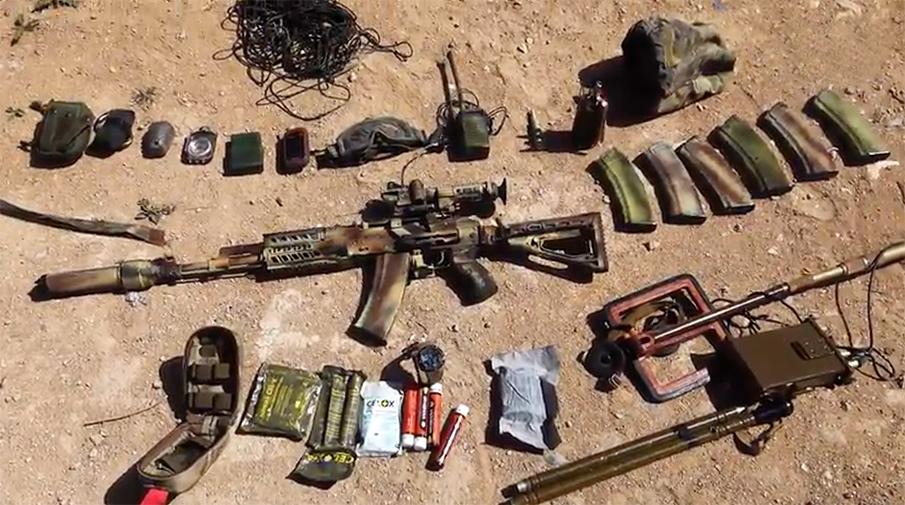 Экипировка и оружие одного из погибших