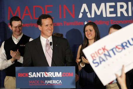 Рик Санторум закрепил лидерство в лагере консервативных республиканцев