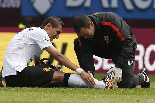 Анхель Ди Мария в дебютном матче за «Манчестер Юнайтед» получил травму, и его команда не смогла переиграть «Бёрнли»
