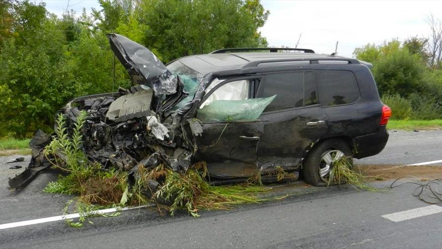 ВКрыму вДТП разбился бронированный вседорожный автомобиль Поклонской