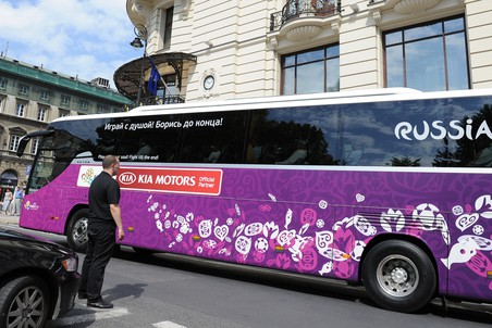 Автобус сборной России