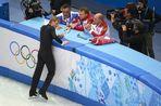 Евгений Плющенко заявил, что в мужском одиночном катании на Олимпиаде его заставили выйти на лед, несмотря на травму