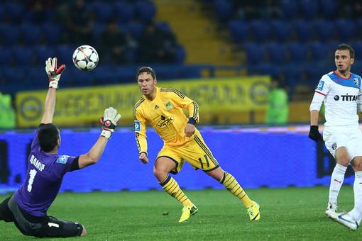 Марлос забивает победный мяч «Металлиста» в игре с «Таврией»