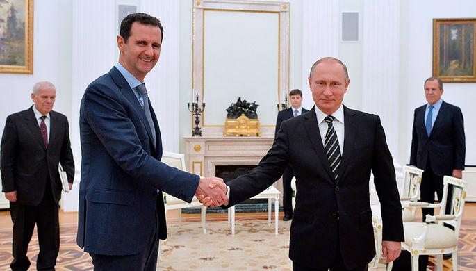 Путин встретился сАсадом, который посетил Российскую Федерацию срабочим визитом