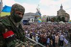 Демонстранты в Киеве хотят окончания режима перемирия