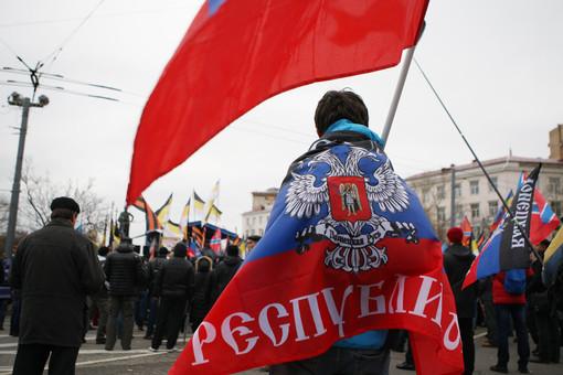 Участники митинга в поддержку Новороссии «Битва за Донбасс III» на Суворовской площади