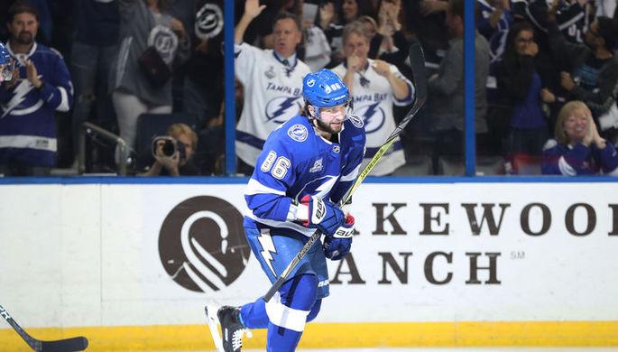 «Тампа» обыграла «Нью-Джерси» вматче плей-офф НХЛ, Кучеров забил два гола