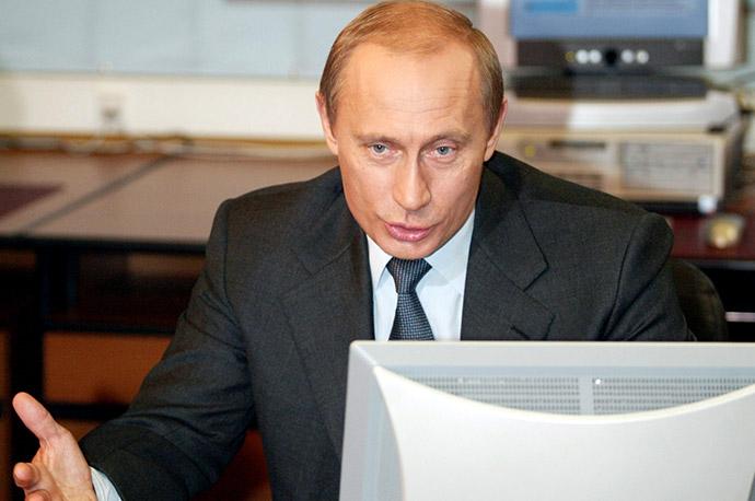 Владимир Путин в Кремле, 2004 год