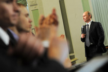 Putin met with his observers and called them gladiators