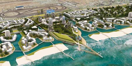 3D-визуализация проектируемого района «Лазурный берег» в городе Махачкала»