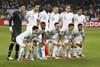 Сборная Франции перед началом матча