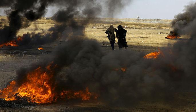 ВВС Израиля нанесли удары потрем военным целям ХАМАС