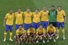 Сборная Швеции перед началом матча